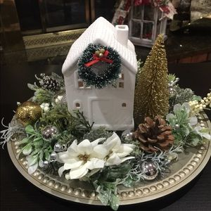Christmas centerpiece: home decor 🏡🎄❄️